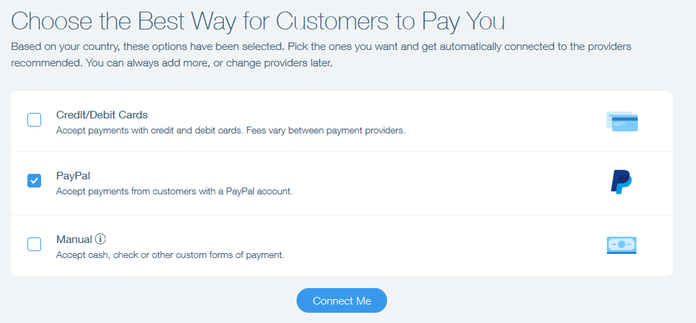 Connecting PayPal as a Payment Provider | Help Center | Wix com