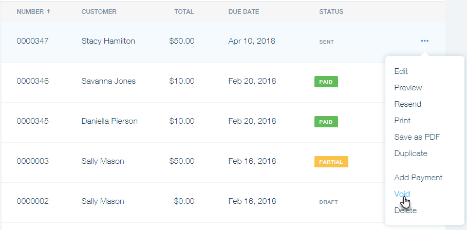 canceling an invoice in wix invoices help center wix com