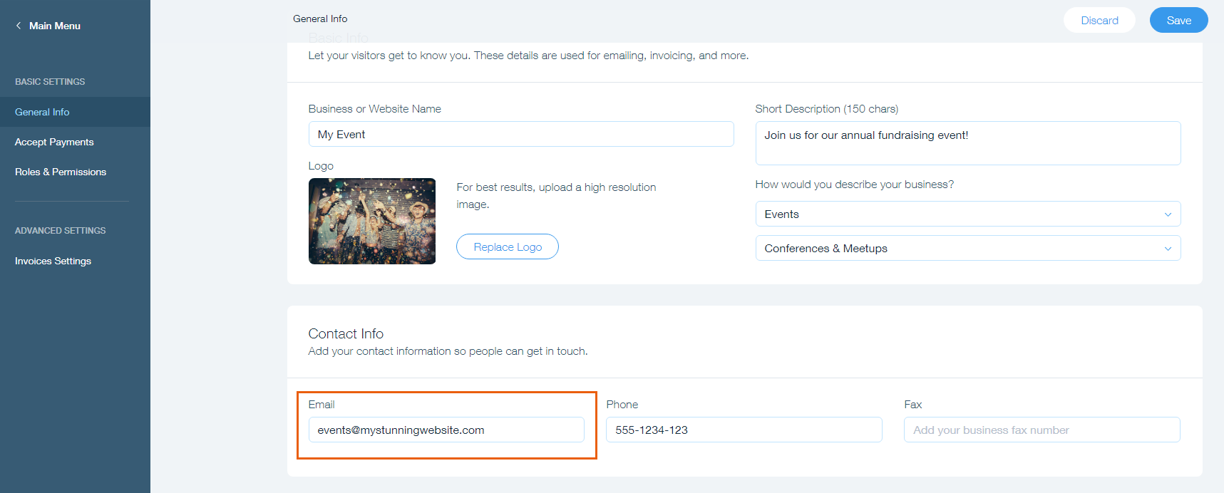 Changing Your Email Address For Rsvp Notifications In Wix Events