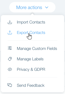 Exporting Your Contacts   Help Center   Wix com