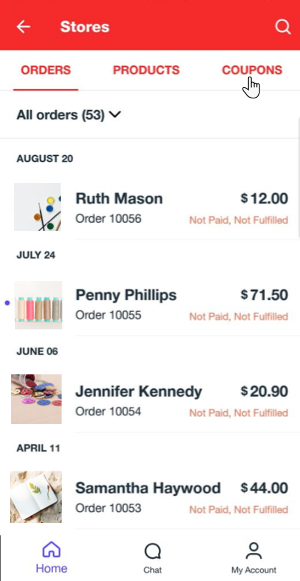 manage coupons app