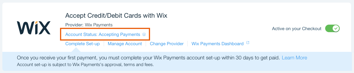 Understanding the Status of Your Wix Payments Account | Help