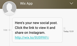Sharing Your Post on Instagram | Help Center | Wix com