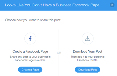 Facebook Is Great For Sharing Pictures >> Sharing Your Post On Facebook Help Center Wix Com