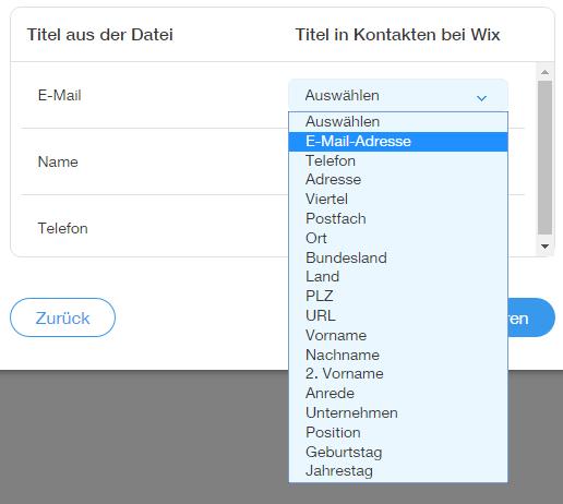 Kontakte mithilfe einer CSV-Datei importieren | Support Zentrum ...