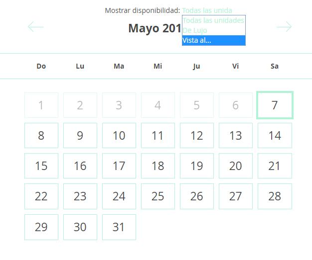 Actualizar Calendario.Solicitud Configurando El Calendario De Disponibilidad De