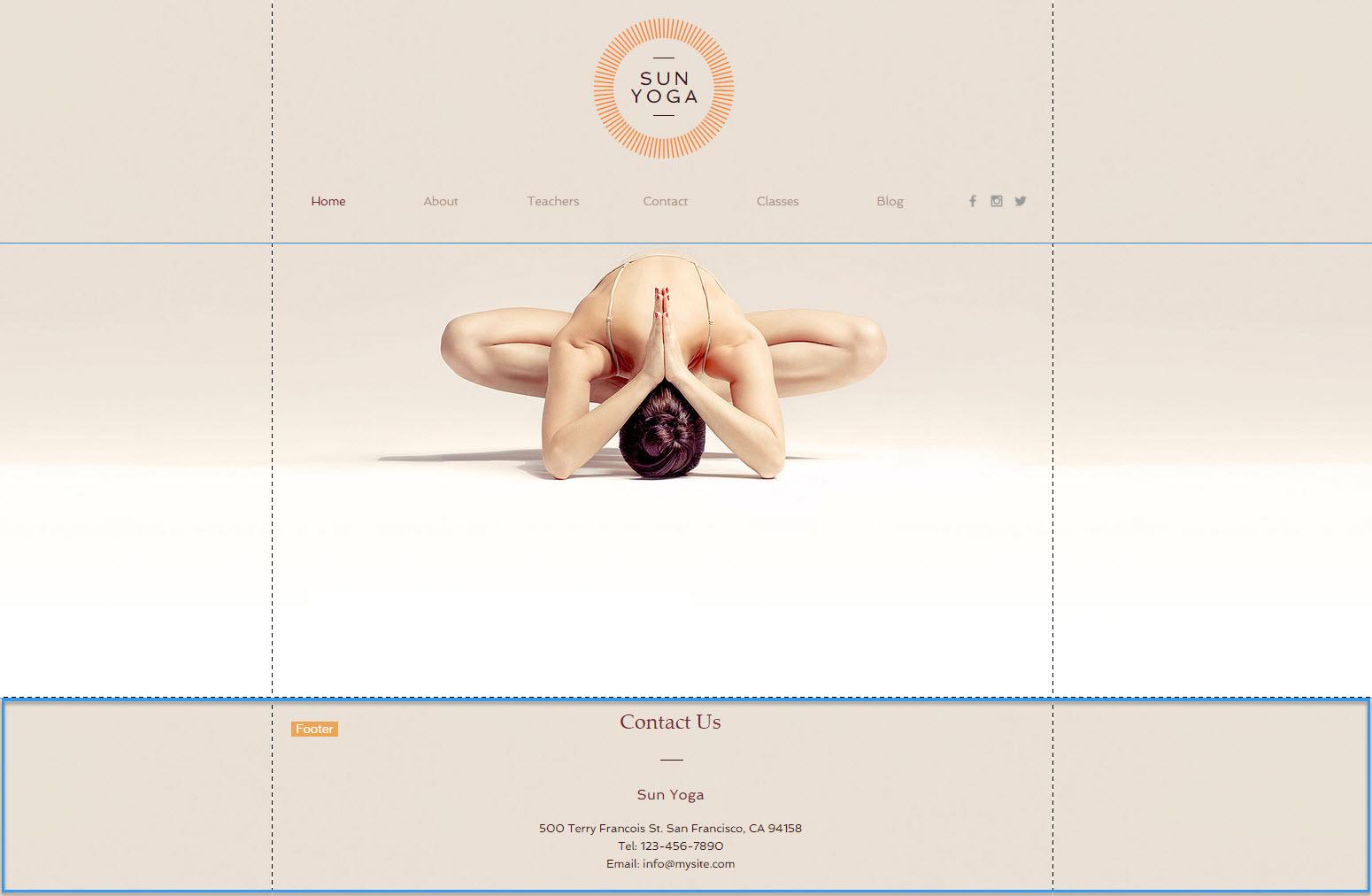 Pie de página | Centro de Ayuda | Wix.com