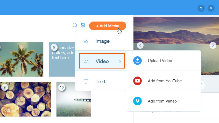 Adding YouTube and Vimeo Videos to Your Pro Gallery | Help