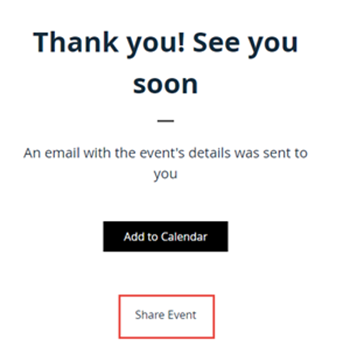 Disabling the share event option on the wix events thank you the thank you message which guests see either after signing up for an event on your site or after rsvping to an event invitation has an option to share altavistaventures Image collections