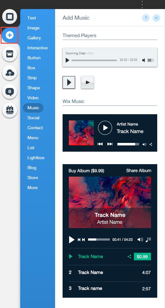 Adding Wix Music | Help Center | Wix com