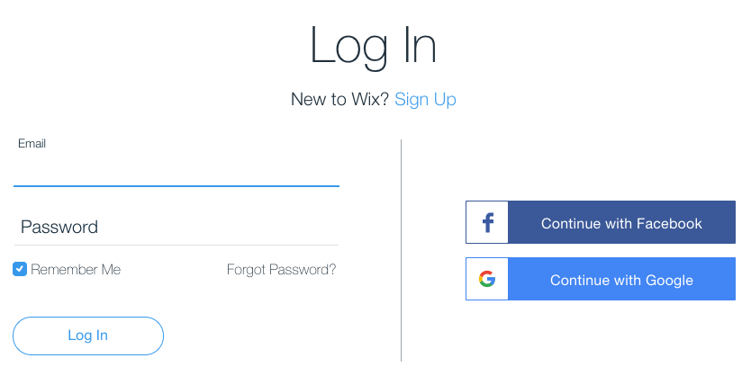 Unable to Sign In to Your Wix Account: Forgot Password