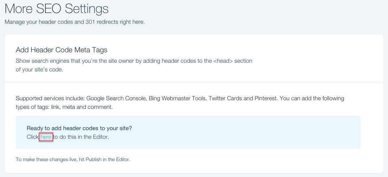 Verifying Your Site Using Header Codes | Help Center | Wix com