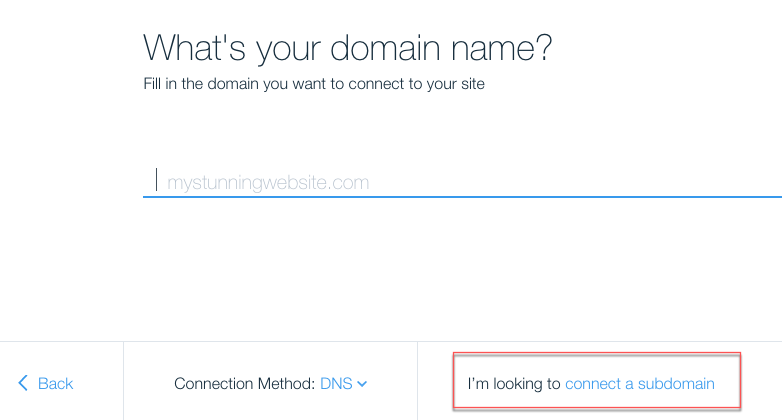Adding A Subdomain To Your Wix Account Domain Connected Elsewhere