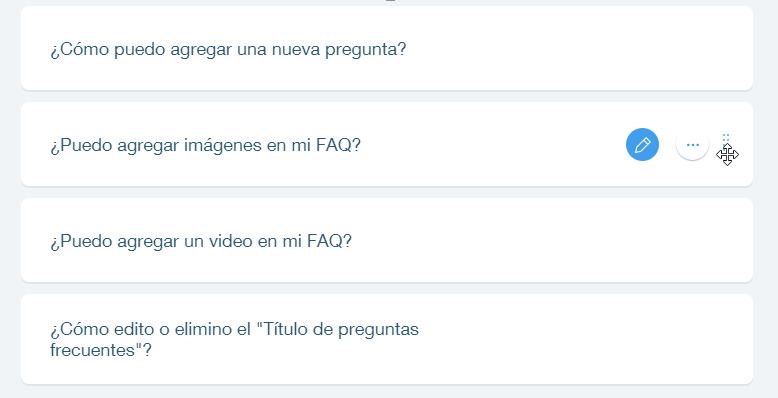 23ca3fad31db Cambiando el orden de tus FAQs en la app Preguntas Frecuentes ...