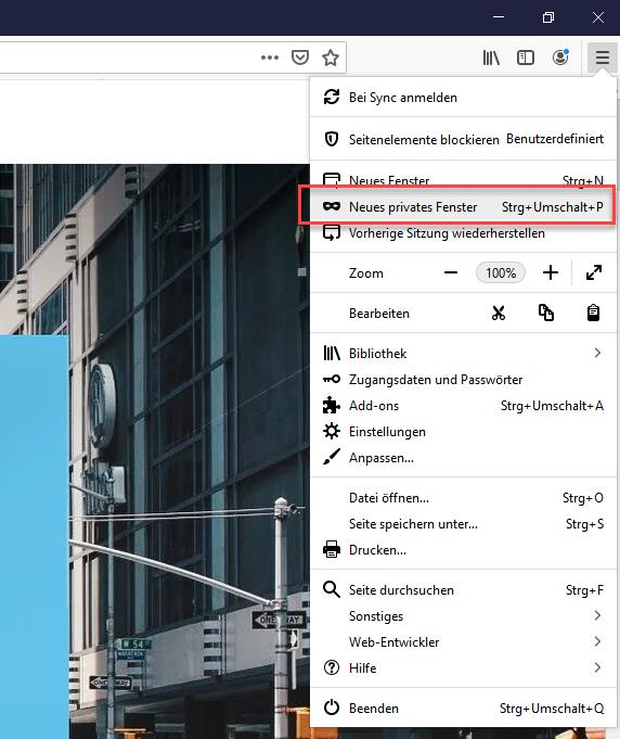 Browser Im Privaten Modus Inkognito Modus Offnen Support Zentrum Wix Com