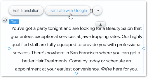 Transalte google