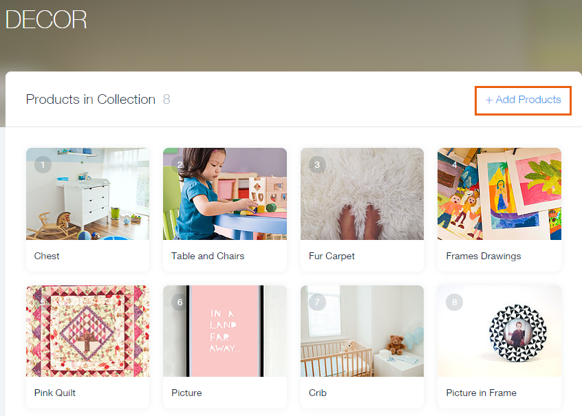 Adding Products to a Collection in Wix Stores | Help Center | Wix.com