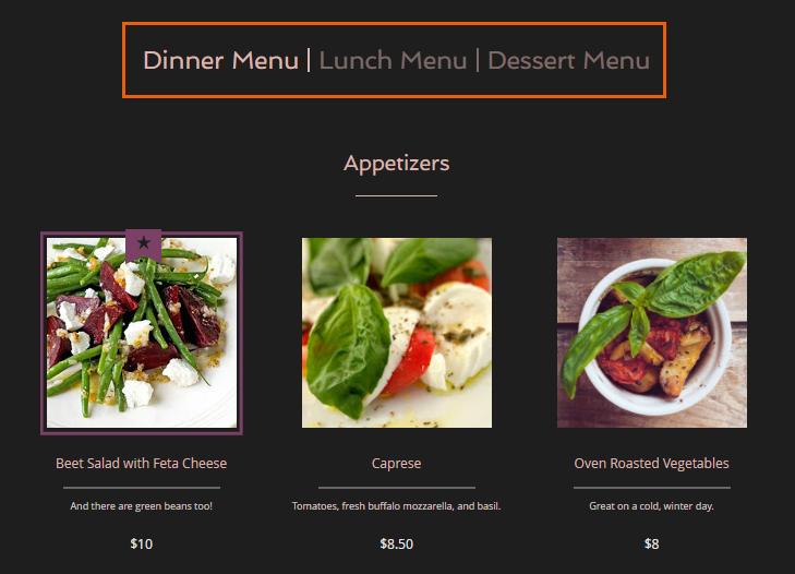 creating additional restaurant menus help center wix com