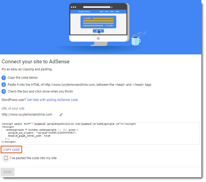 Verifying Your Site for Google AdSense | Help Center | Wix com