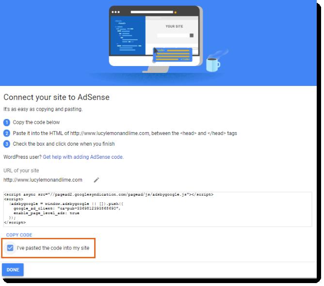 Verifying Your Site for Google AdSense   Help Center   Wix com