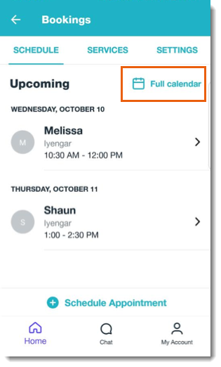 Checking Your Upcoming Bookings in the Wix Mobile App | Help