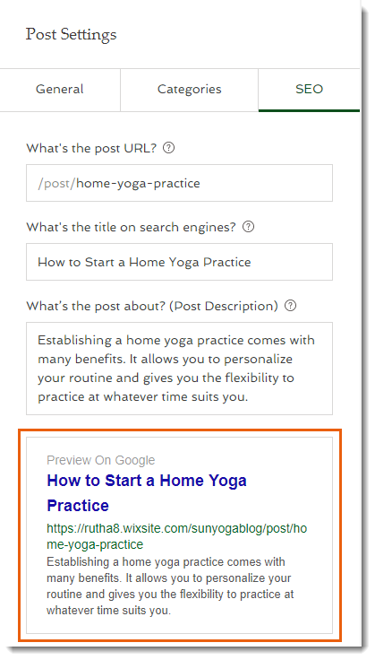 SEO for Blog Posts in the New Wix Blog   Help Center   Wix com