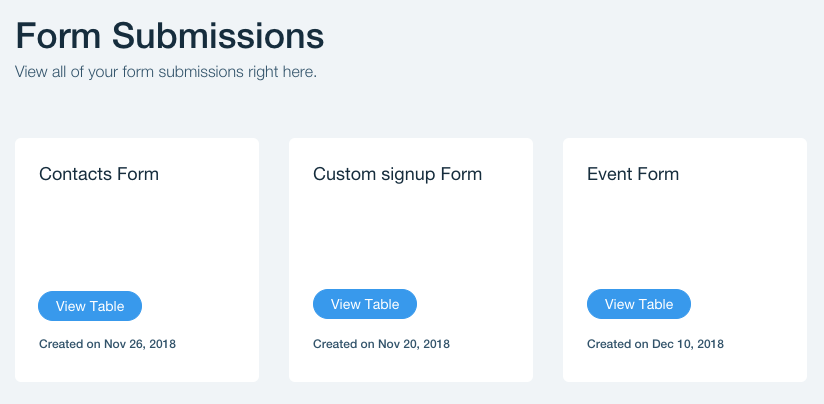 Accessing Your Wix Forms Submission Tables | Help Center