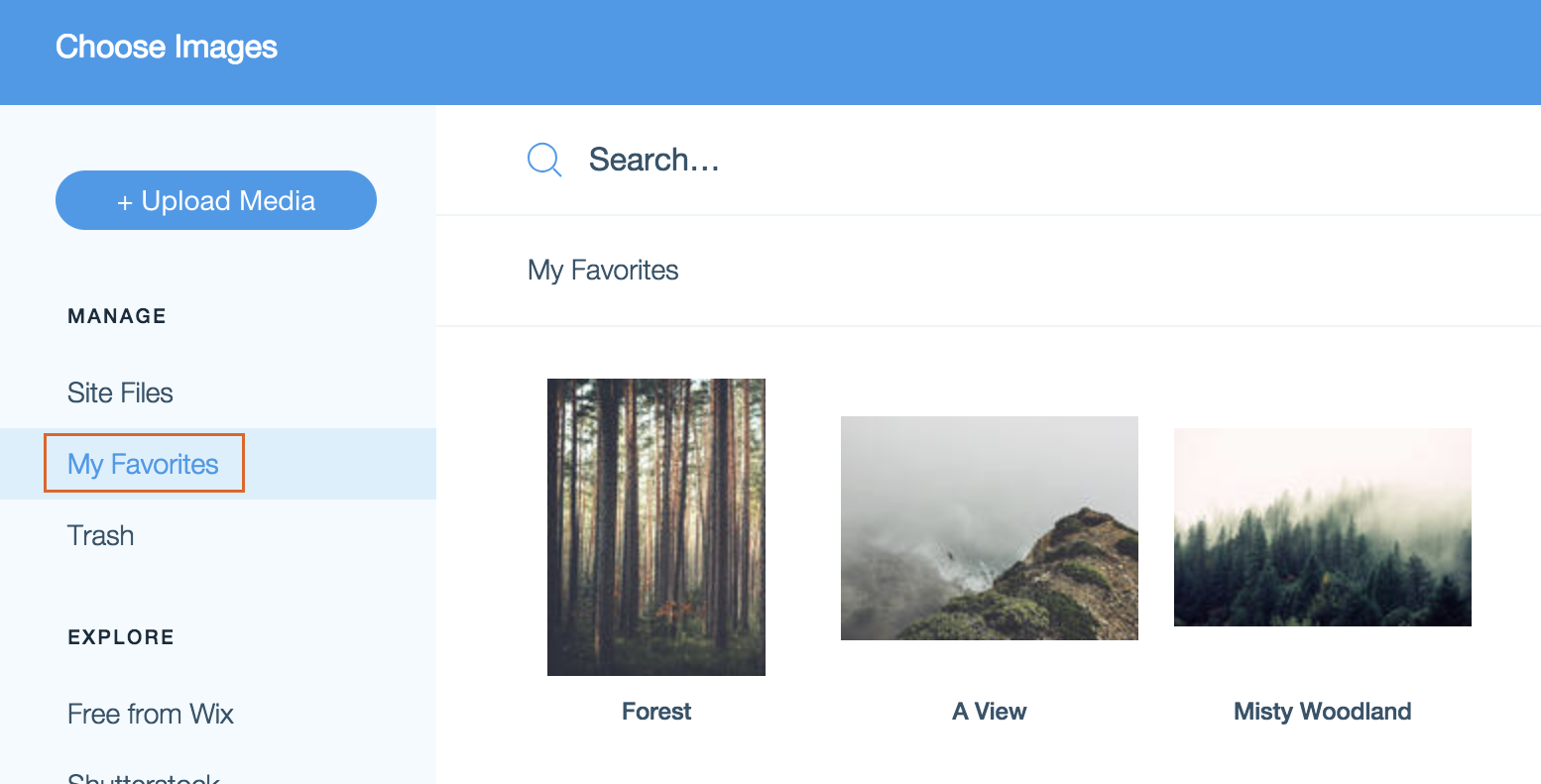 "Add To Favorites adding files to your ""my favorites"" section of the media"