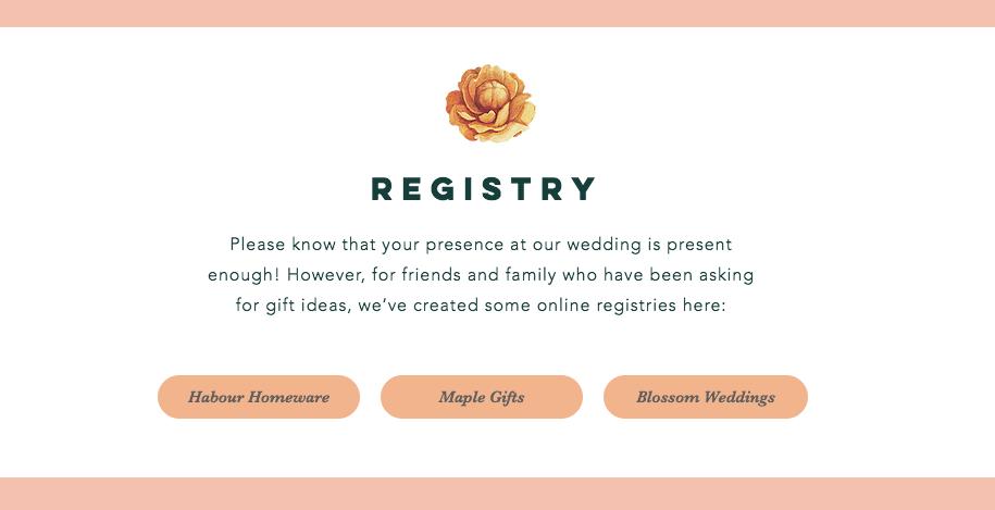 Online Wedding Registry.Adding Gift Registries To Your Wedding Website Help Center Wix Com