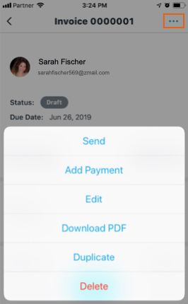 Managing Your Invoices from the Wix Mobile App   Help Center