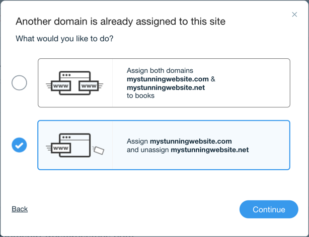 Replacing Your Site Url With Another Domain Name Help Center Wix Com