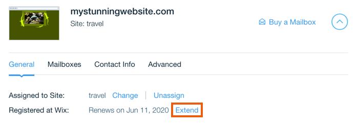Extending Your Wix Domain Subscription | Help Center | Wix com