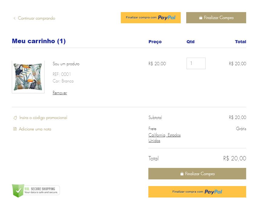 7df0653387d1 Personalizando a Página de Carrinho da Wix Stores | Central de Ajuda ...