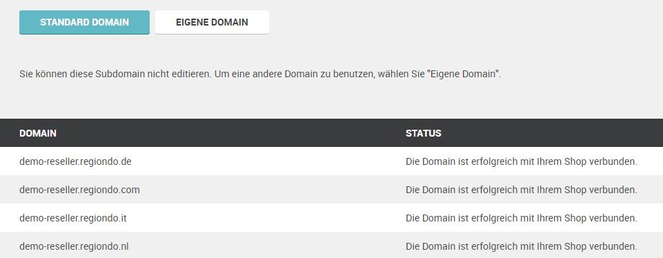 Eigene Domain wie funktioniert die einbindung meines shops mit der shop domain