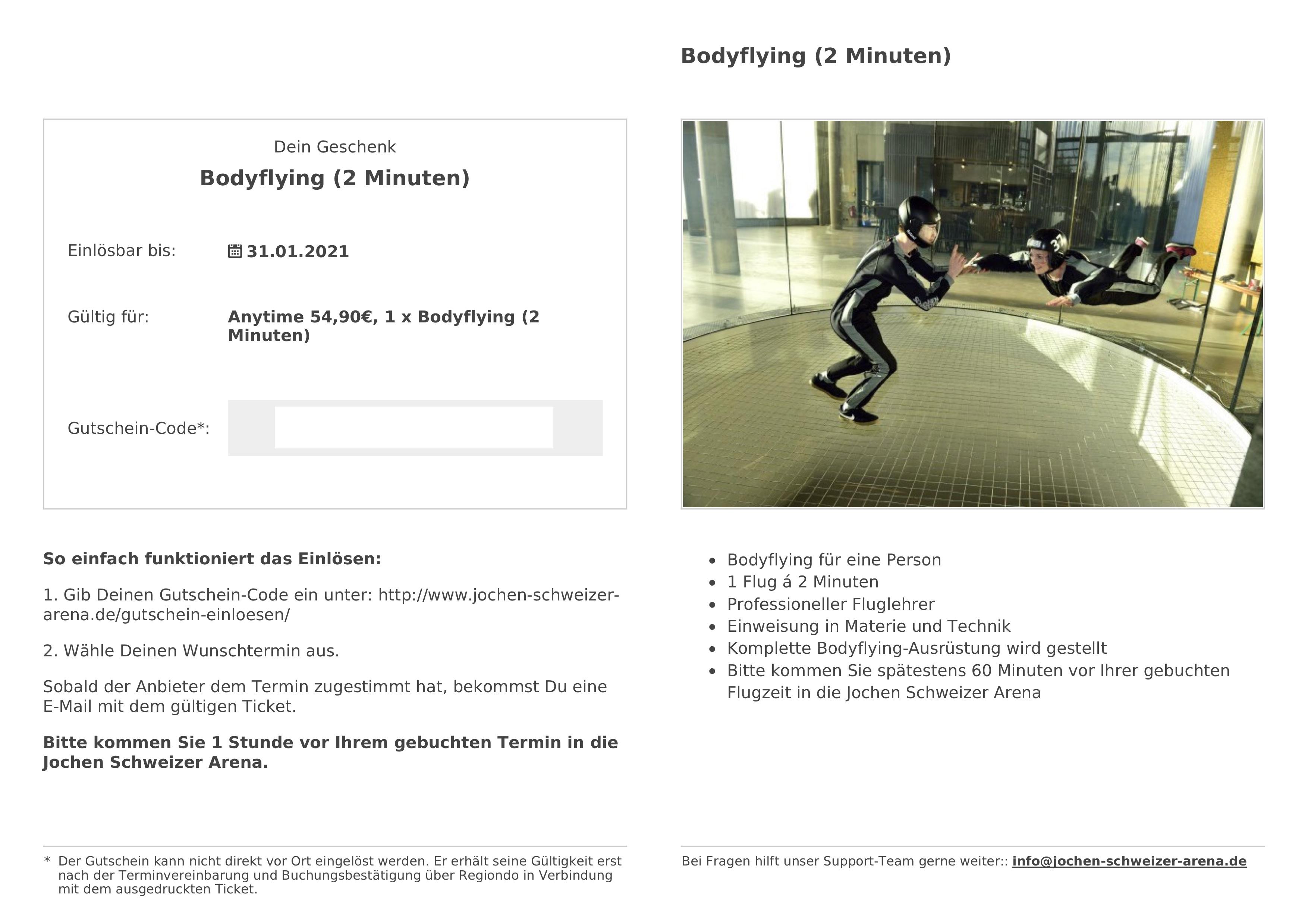 Gift voucher - Regiondo GmbH Knowledge Base