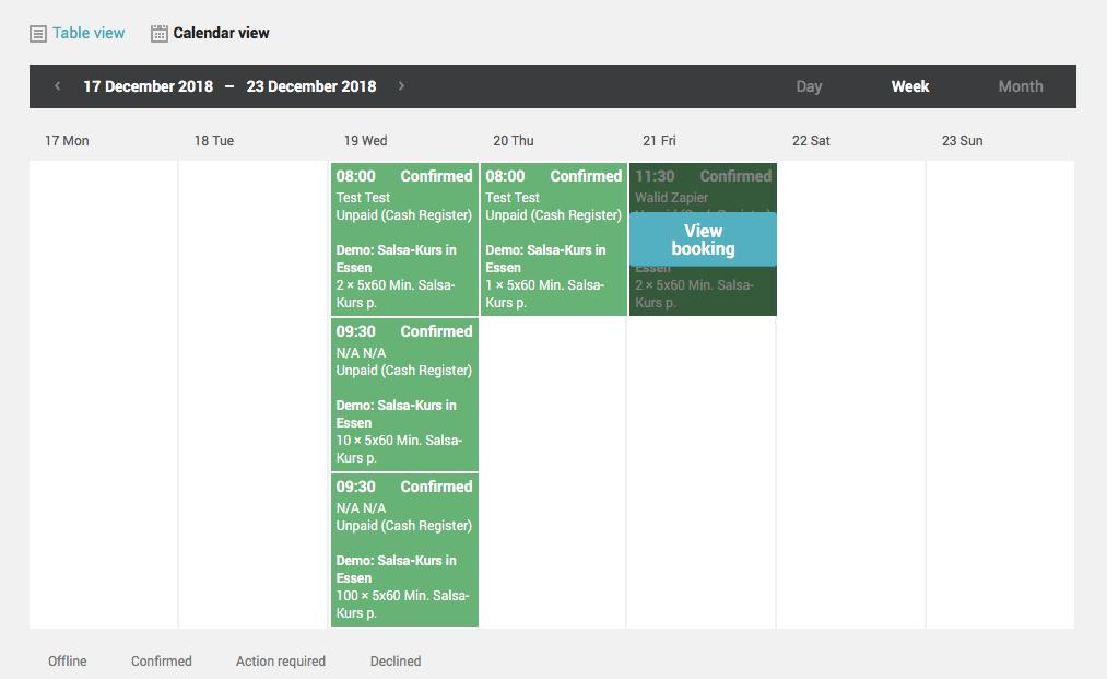 sistema di prenotazione online_regiondo_funzioni_calendario