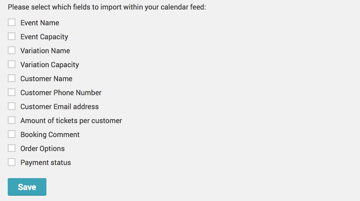 How can I integrate my bookings into an external calendar via iCal