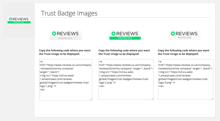 Company Review Badges & Widgets