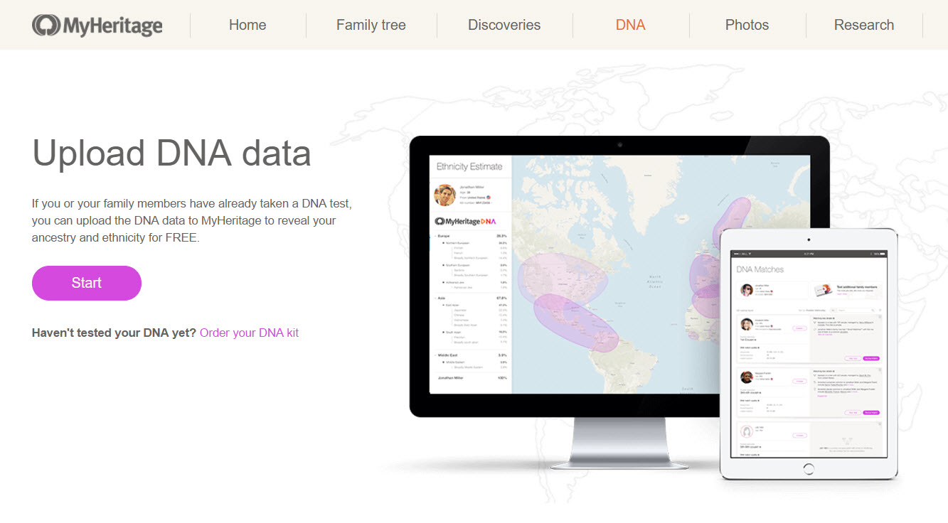 How can I upload a DNA file to MyHeritage? - MyHeritage