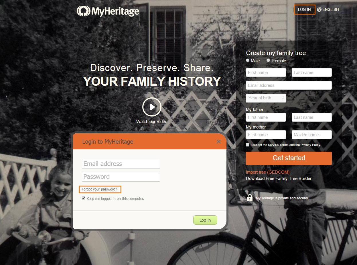Myheritage login