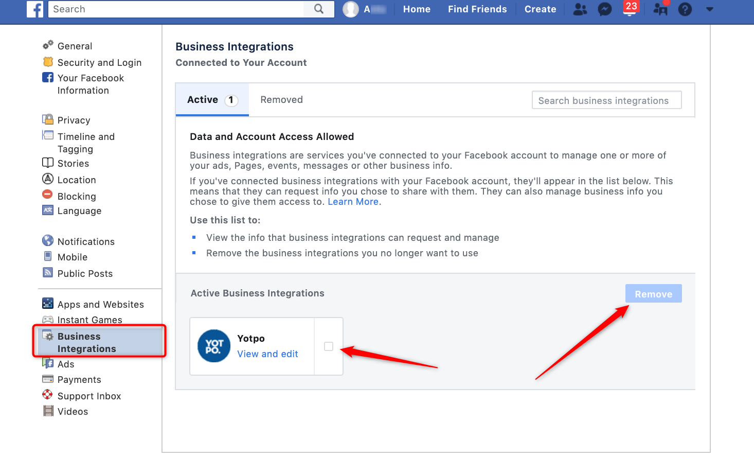 Facebook: Linking and Troubleshooting | Yotpo - Support Center