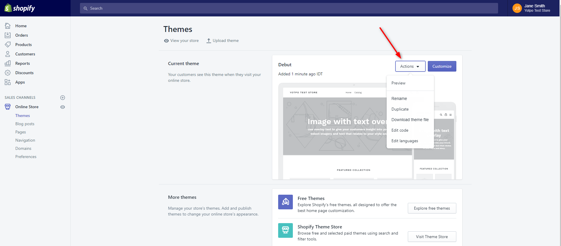 Shopify: Finding the product liquid file   Yotpo - Support