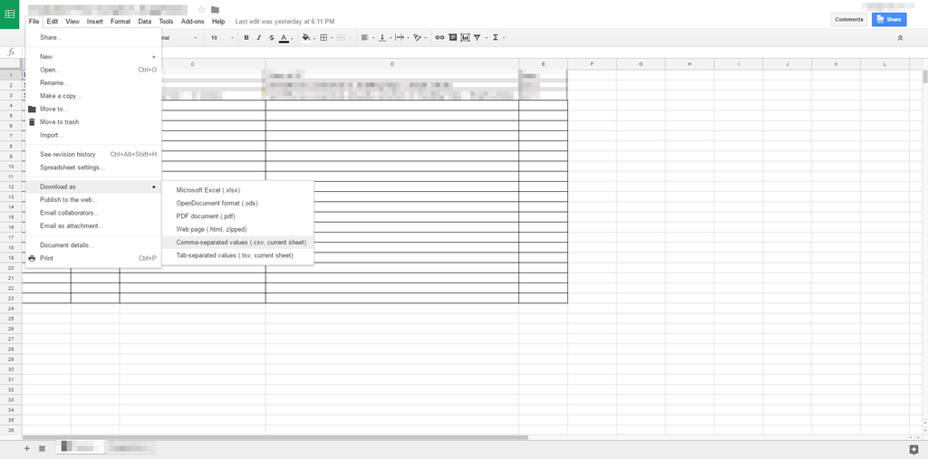 Saving A CSV File In UTF With Google Spreadsheet Yotpo Support - Google spreadsheet