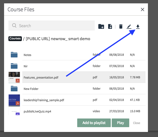 Download Your Uploaded Files - Newrow Knowledge Base