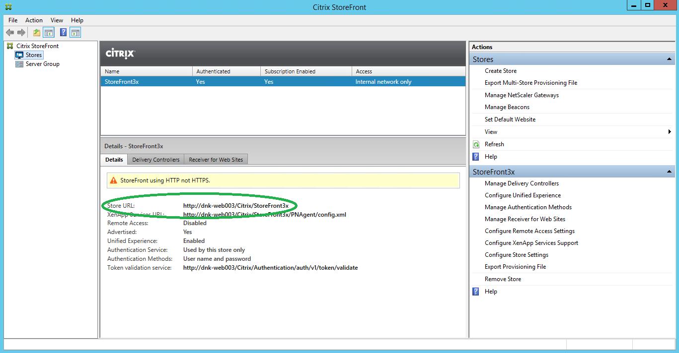 LoadGen - Knowledge Base: Citrix StoreFront: The server did
