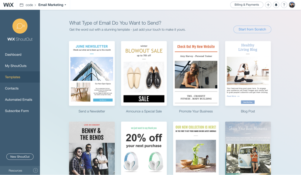 Email Marketing New Templates