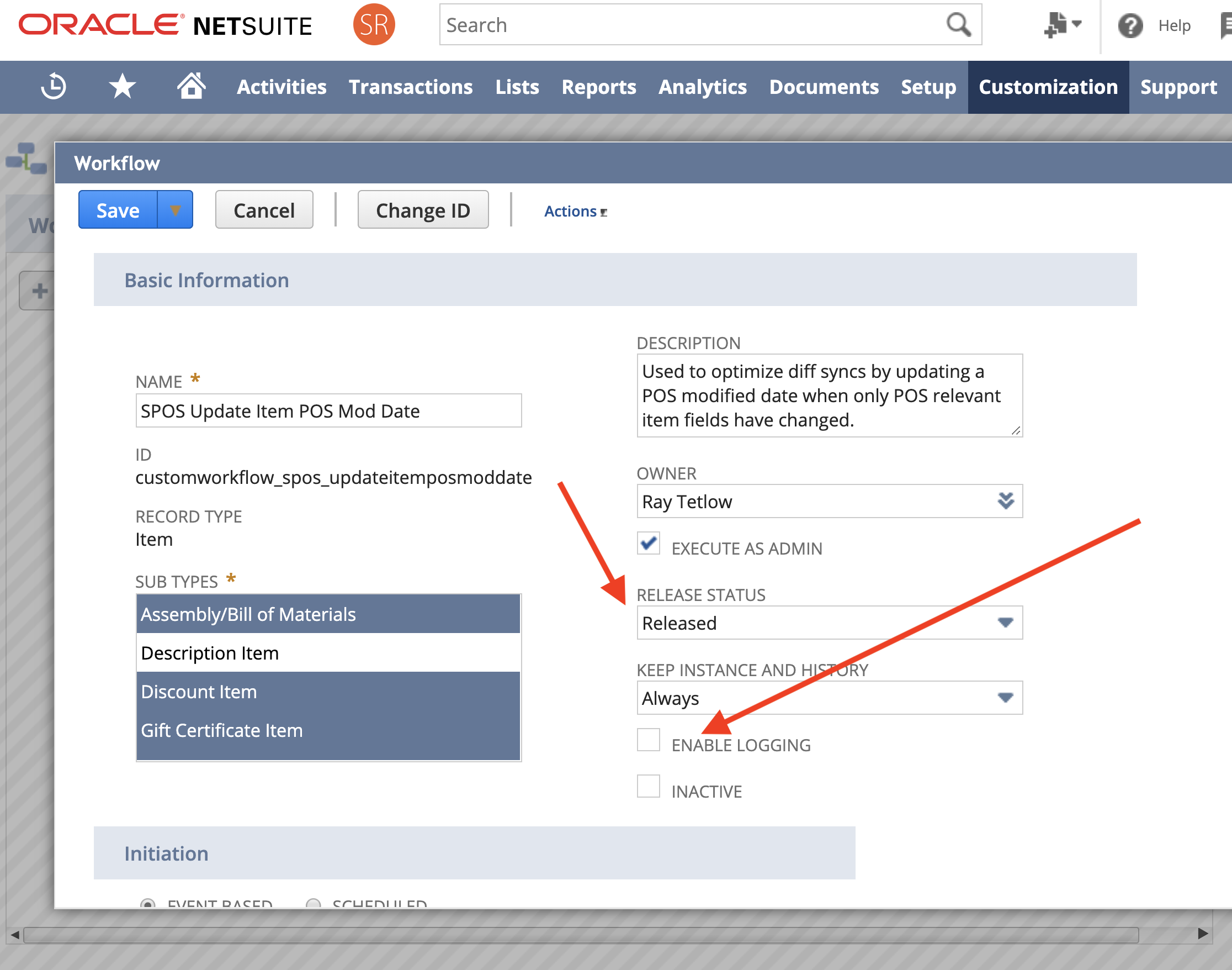 Tutorial: Activating/Deactivating Optimize Diff  Syncs  in NetSuite