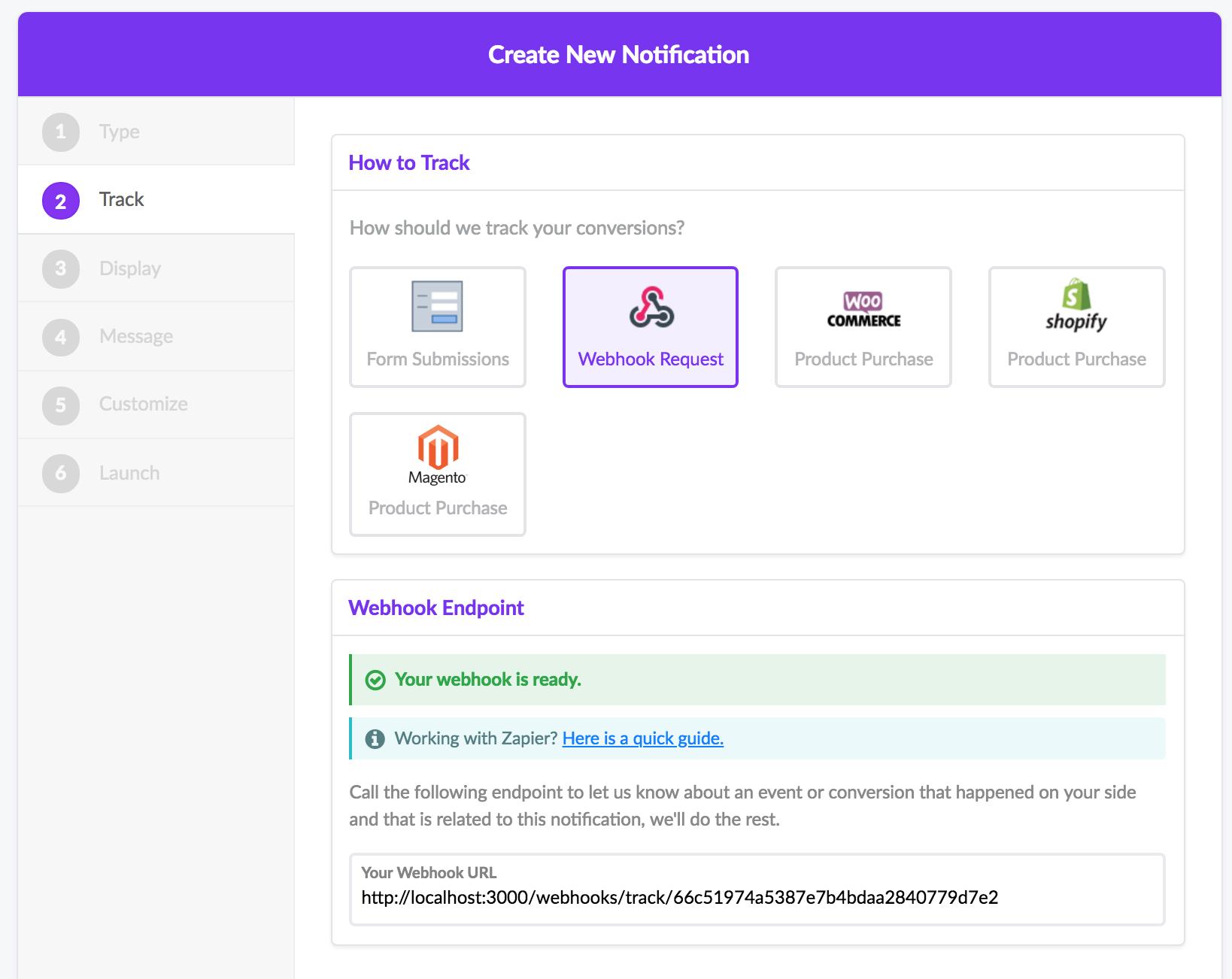 Setup a Custom Webhook with Integromat | ProveSource
