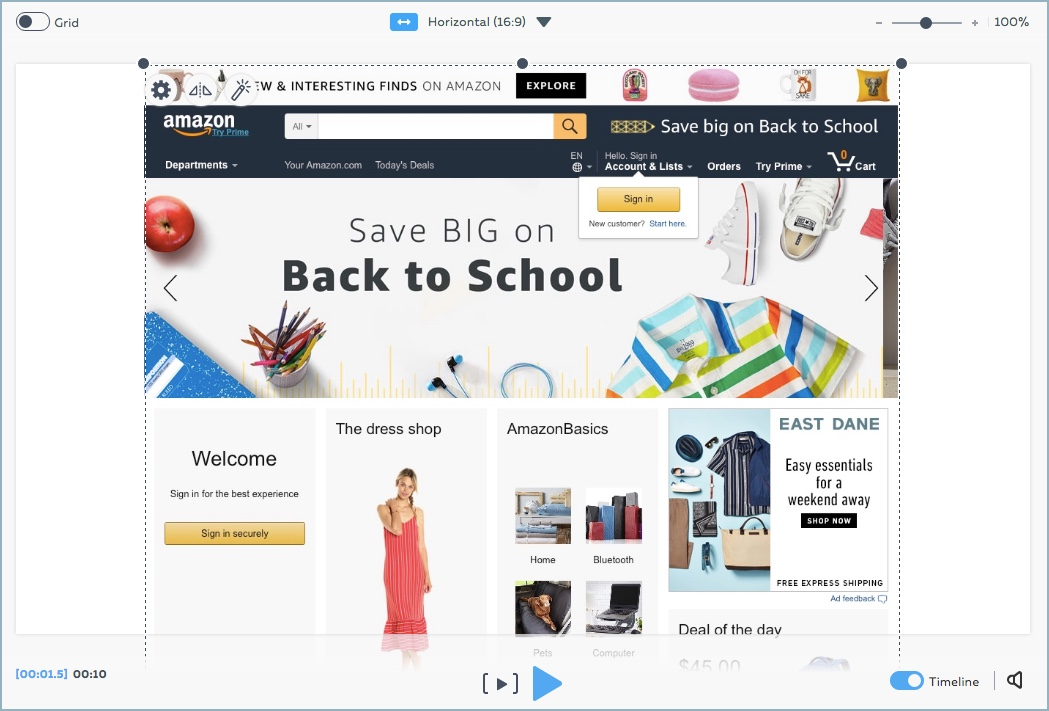 creating a web page scrolling effect powtoon knowledge base