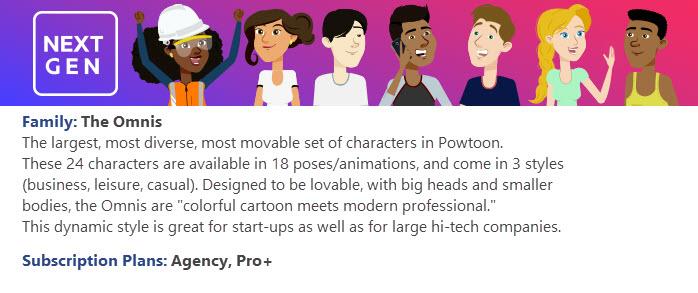 Powtoon Character Catalog | Help Center